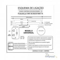 Controle de Velocidade CV Deslizante Bivolt + 2 Teclas
